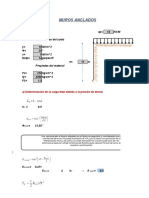 Excel de Muros anclados