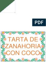 Tarta de Zanahoria Con Coco