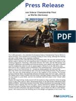 PR 194 2018 European Sidecar Championship Final at Werlte Germany