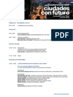 Conferencia Caf Ciudades Con Futuro Agenda