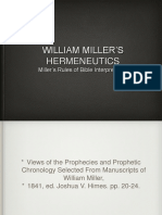 William Miler's Hermeneutics