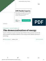 The Democratisation of Energy