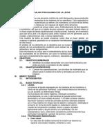 Analisis Fisicoquimicas de La Leche