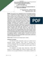 Elci N. B. FREITAS & Márcia S. O. ARAÚJO & Dagmar R. DUARTE - A Importância Da Didática Na Formação de Professores Da Educação Superior