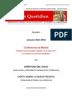 Miller - conferencia de Madrid
