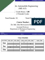 Automobile Engineering Syllabus
