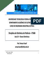 Disciplina Eletrônica de Potência - Chaves de Potência.pdf