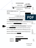 Carter Page FISA Warrant Info