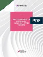 How to Configure ISP Redundancy