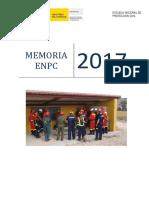 Memoria Escuela Nacional de Protección Civil 2017