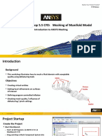 Mesh-Intro 17.0 WS5.5 CFD Manifold