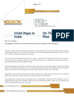 Child Rape in India on the Rise