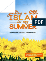 Muslim Kids' Summer Vacation Diary
