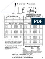 American Standard Recommended Wide Flange Beam Gages