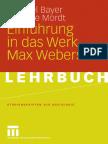 Michael Bayer, Gabriele Mordt-Einfuhrung in das Werk Max Webers-VS Verlag für Sozialwissenschaften (2008)
