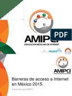 Barreras de Accesoa Internet en Mexico 2015