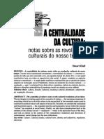 A CENTRALIDADE DA CULTURA  notas sobre as revoluções culturais do nosso tempo1