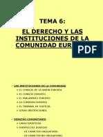 El Derecho y Las Instituciones de La Comunidad Europea