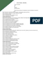 Lista de Temas - Pediatria i