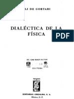 Dialectica DeLa Fisica Eli de Gortari