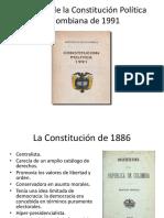 El Origen de La Constitución Política Colombiana de 1991