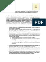 Formato Acta de Compromiso de Corresponsabilidad Proyectos sociales