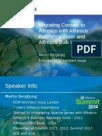 Alfresco Summit 2014 - London - Alfresco BatchProcessor and Bulk Import Tool