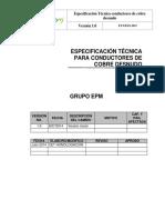 ET Conductores Cobre Desnudo - Grupo EPM 20 Mayo 2015