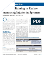 Eccentric Training to Reduce Hamstring Injuries in Sprinters