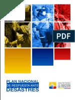 Plan Nacional de Respuestas Ante Desastres