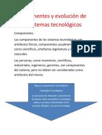 Componentes y Evolución de Los Sistemas Tecnológicos