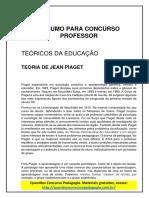 34. RESUMO PARA CONCURSO PROFESSOR - JEAN PIAGET.pdf