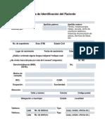 Ficha de Identificación Del Paciente 01