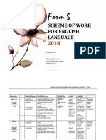 Scheme of Work Form 5 English