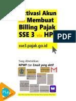 Aktivasi SSE 3 Membuat Billing Pajak via HP Android Agen Billing Pajak Laku Pandai Brilink