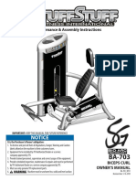 TuffStuff Bio-Arc Biceps Curl (BA-703) Owner's Manual