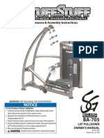 TuffStuff Bio-Arc Lat Pulldown (BA-705) Owner's Manual