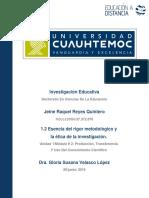 Jeine Raquel Reyes Quintero_Actividad 1.2 Esencia Del Rigor Metodológico y La Ética de La Investigación