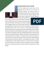 Agung Siswahyu Summary Profile