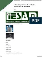 Introdução Sobre Dispositivos de Proteção de Um Sistema Elétrico de Potência