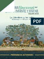 PROGRAMA DE FERIA DEL LIBRO INFANTIL Y JUVENIL XALAPA 2018