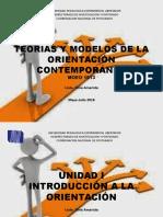Unidad I Teorías y Modelos de La Orientación Contemporánea