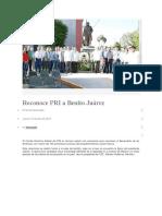 19-07-2018 Reconoce Pri a Benito Juárez