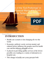 Evaluation of the Exit Proformas in Use at Special Wards of a Public Sector Tertiary Care Hospital