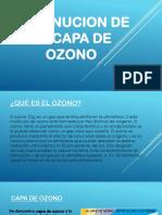 Disminucion de La Capa de Ozono