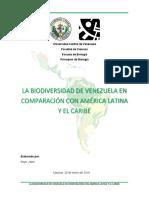 La Biodiversidad de Venezuela en Comparacion Con América Latina y El Caribe
