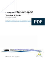 Project Status Report Template and Guide