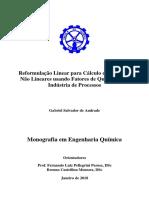 Reformulação Linear Para Cálculo de Misturas Não Lineares Usando Fatores de Qualidade Na Indústria de Processos