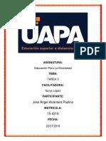 Tarea 3 de Educacion Para La Diversidad de Jose Angel