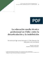 La Educación Media TP en Chile
